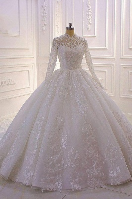Prinzessin Hochzeitskleider mit Glitzer | Brautkleider Spitze Ärmel_6