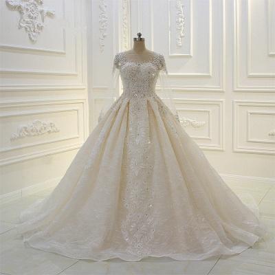 Schöne Brautkleider Mit Glitzer | Hochzeitskleider A Linie Spitze_2