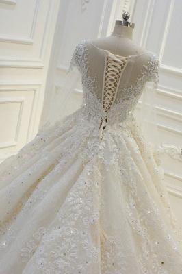 Schöne Brautkleider Mit Glitzer | Hochzeitskleider A Linie Spitze_7