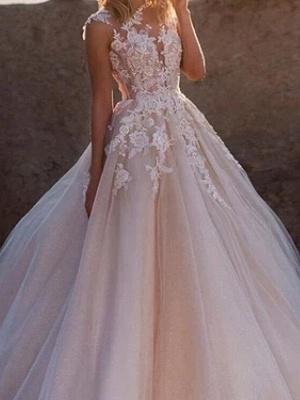 Blush Pink Wedding Dresses A Line | Vintage wedding dress with lace_3
