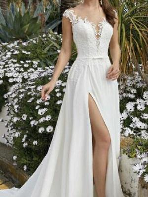 Fashion Brautkleider Mit Spitze | Chiffon Hochzeitskleider Etuikleider_3