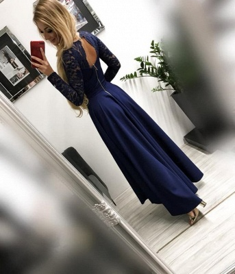 Burgundy prom dresses | Festive dresses with sleeves_3