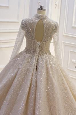 Hochzeitskleider Prinzessin Glitzer | Brautkleider mit Ärmel_3