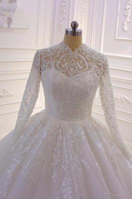 Prinzessin Hochzeitskleider mit Glitzer | Brautkleider Spitze Ärmel