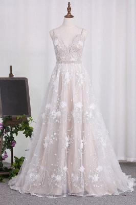 Elegante Hochzeitskleider A linie Spitze | Brautkleider Günstig