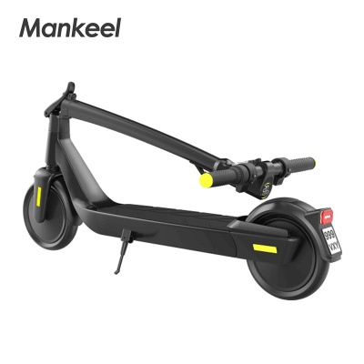 E-Scooter Foldable Electric Scooter Speed Adults up to 20 Km / h 8.5 Inch Inflatable LCD Display Portable Front and Rear Taillights (Black)_5