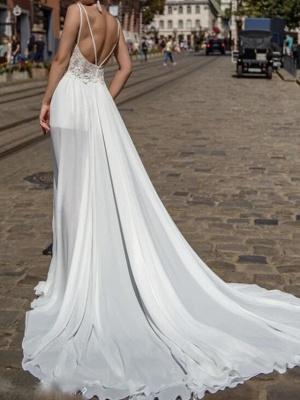 Sexy Brautkleider mit Spitze | Chiffon Sommer Kleider Hochzeitskleid_2