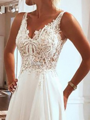 Simple wedding dresses with lace | Sheath dresses bridal online_3