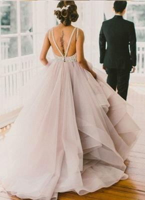 Elegante Brautkleider A linie | Hochzeitskleider V Ausschnitt_3