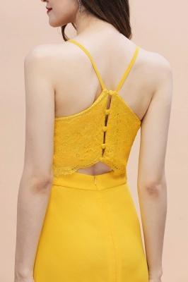 Brautjungfernkleider Lang Gelb   Günstige Kleider Partykleider_9