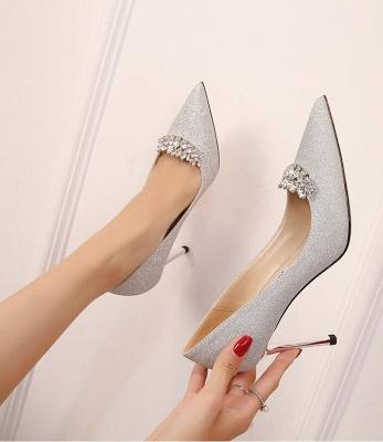 Ivory glitter wedding shoes | Wedding shoes white_3