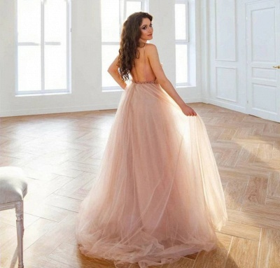 Simple wedding dress A line | Summer tulle dresses wedding_3