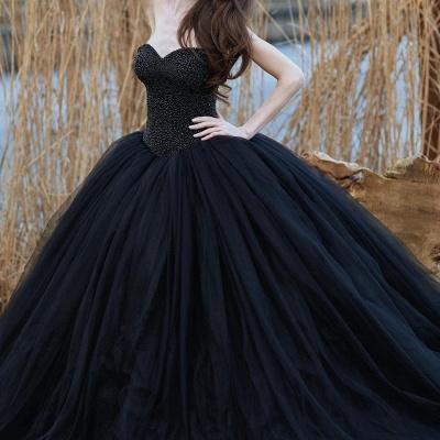 Schwarzes Brautkleid Prinzessin | Schöne Hochzeitskleider Online_3