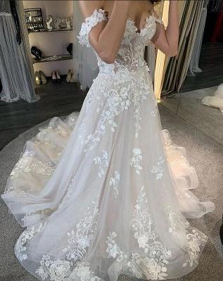 Elegante Brautkleid A linie | Schöne Hochzeitskleider mit Spitze_3