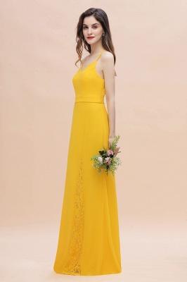 Brautjungfernkleider Lang Gelb   Günstige Kleider Partykleider_4