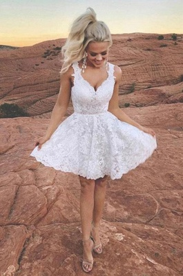 Cocktail dresses short white | Ball gowns with lace_2
