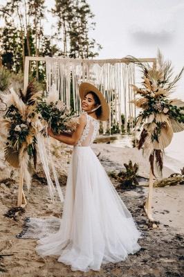 Wunderschöne Brautkleider mit Spitze | Tüll Schlichte Hochzeitskleider_3