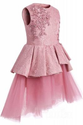 Blumenmädchen Kleid Spitze  | Blumenmädchenkleider Rosa_2