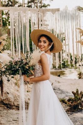 Wunderschöne Brautkleider mit Spitze | Tüll Schlichte Hochzeitskleider_6