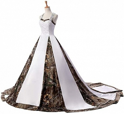 Camouflage wedding dresses A line | Camouflage bridal wear online_4