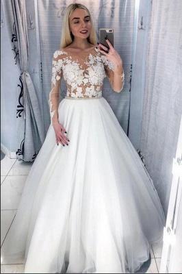 Schöne Brautkleider Mit Ärmel | Hochzeitskleider für Kleine Frauen_2