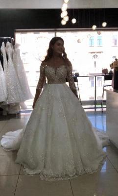 Modern Brautkleid Spitze Online | Luxus Hochzeitskleider Kaufen_2