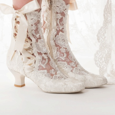 Bridal Shoes Small Heel | Off white shoes_4