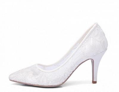 Weiße Schuhe mit Spitze | Brautschuhe Günstig Kaufen_2