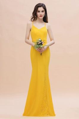 Brautjungfernkleider Lang Gelb   Günstige Kleider Partykleider_5