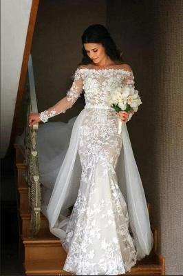 Luxus Brautkleider mit Ärmel | Spitze Hochzeitskleid  A linie
