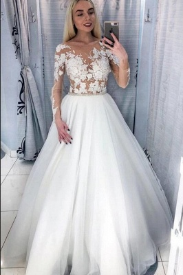 Beautiful wedding dresses with sleeves | Wedding dresses for little women_1