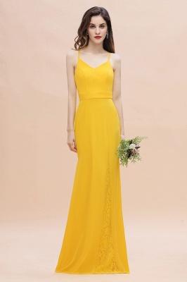 Brautjungfernkleider Lang Gelb   Günstige Kleider Partykleider_1