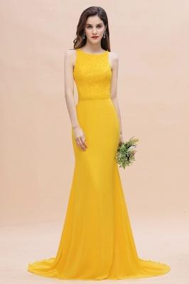Schöne Brautjungfernkleider Gelb | Günstige Hochzeitspartykleider Online_7