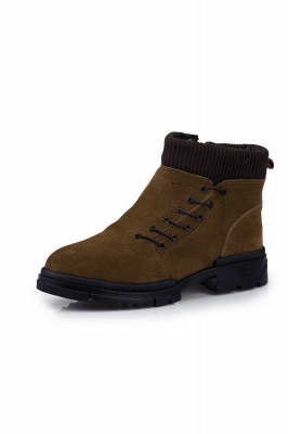 Suede boots combat boots | Winter boots combat boots_2