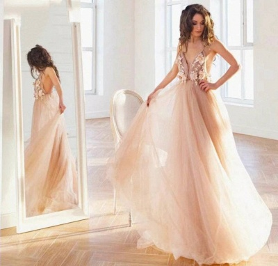 Simple wedding dress A line | Summer tulle dresses wedding_2