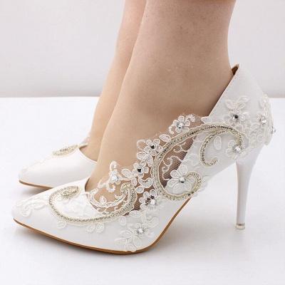 Brautschuhe Weiß Glitzer | Hochzeitsschuhe Spitze_3