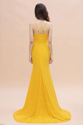 Schöne Brautjungfernkleider Gelb | Günstige Hochzeitspartykleider Online_3