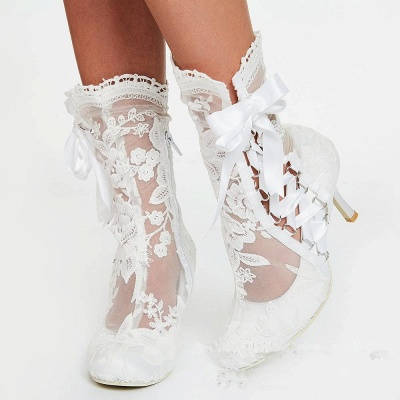 Bridal Shoes Small Heel | Off white shoes_5