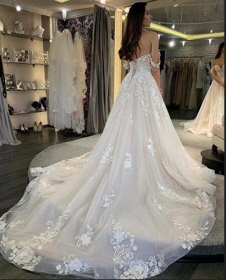 Elegante Brautkleid A linie | Schöne Hochzeitskleider mit Spitze_2