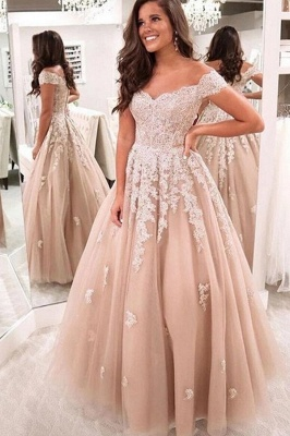 Elegant evening dresses with lace | Prom dresses evening wear online_1