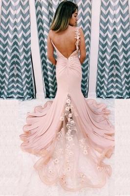 Schöne Abendkleid Lang  Rosa | Abendmoden Rückenfrei