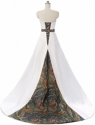 Designer Brautkleid A linie Tarnung | Camouflage Hochzeitskleid Online_3