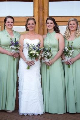 Brautjungfernkleid Rosa | Chiffon Brautjungfernkleider Günstig_2