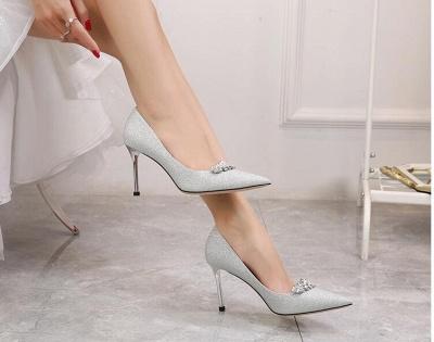 Ivory glitter wedding shoes | Wedding shoes white_2