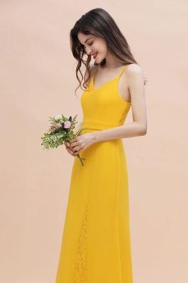 Brautjungfernkleider Lang Gelb   Günstige Kleider Partykleider_8