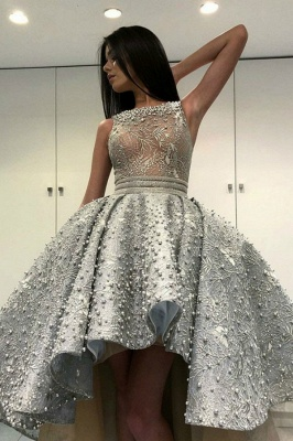 Luxury cocktail dresses with lace | Prom Dresses Short Front Long Back_1