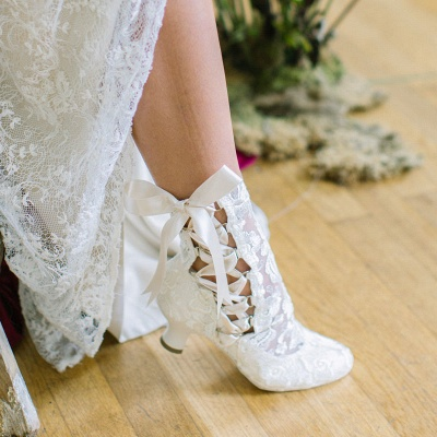 Bridal Shoes Small Heel | Off white shoes_9