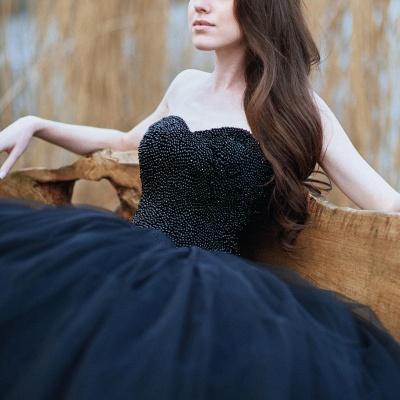 Schwarzes Brautkleid Prinzessin | Schöne Hochzeitskleider Online_5