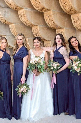 Stylish bridesmaid dresses long blue | Dresses for bridesmaids_1
