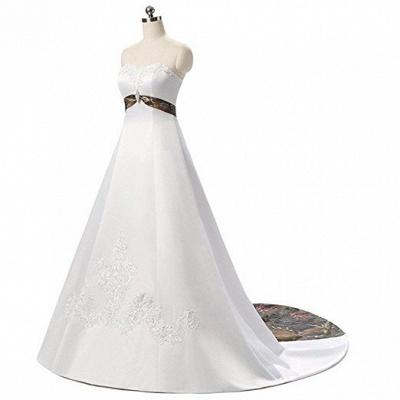 Designer Brautkleid A linie Tarnung | Camouflage Hochzeitskleid Online_4